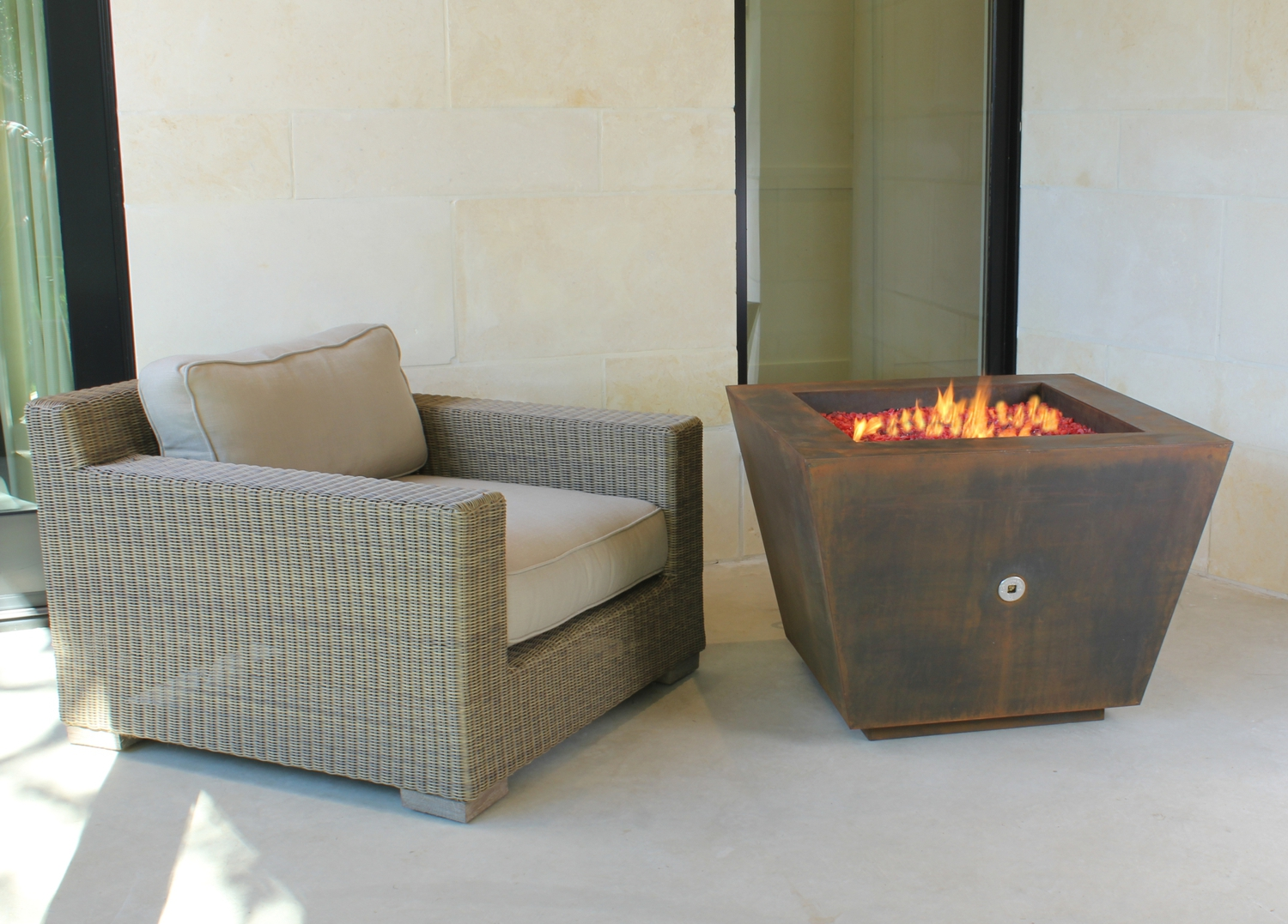 Pyramid Outdoor Fire Pit