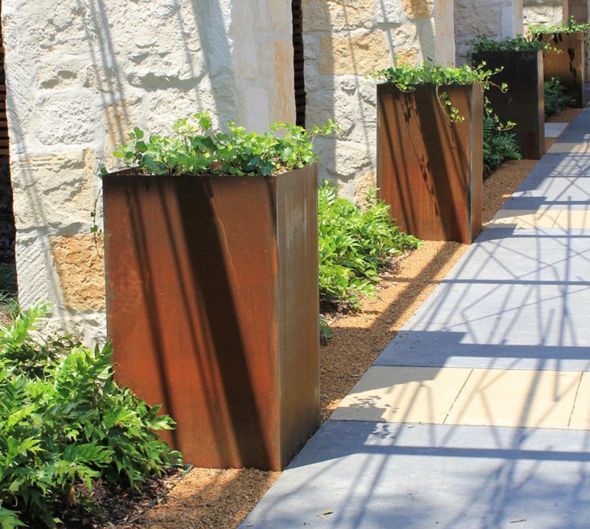 Columnar Cor-Ten Planters