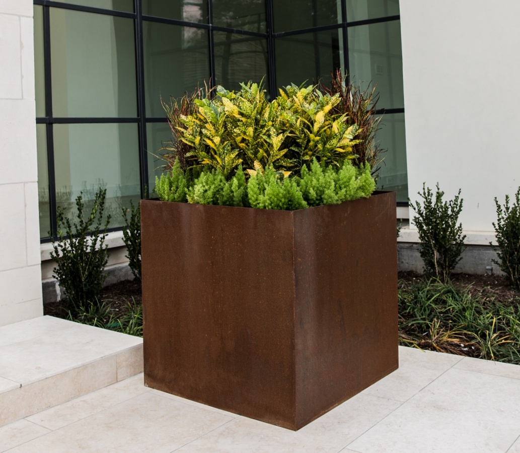 Square Cor-Ten Planters