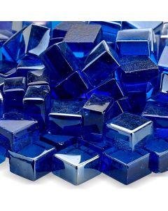 Pacific Blue Cubic Glass