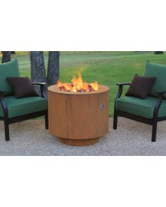 38 Inch Round Cor-Ten Steel Hidden Tank Fire Pit