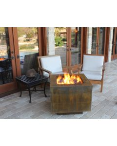 38 Inch Square Cor-Ten Steel Hidden Tank Fire Pit