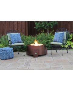 31 Inch Round Gas Fire Pit - Natural Gas or Remote Propane