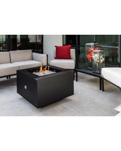 31 Inch Square Gas Fire Pit - Natural Gas or Remote Propane
