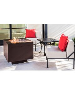 31 Inch Square Powder Coated Hidden Tank Fire Pit