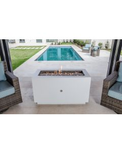 47 Inch Linear Powder Coated Fire Pit - Natural Gas or Remote Propane