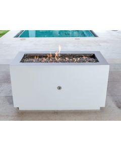 47 Inch Linear Powder Coated Hidden Tank Fire Pit