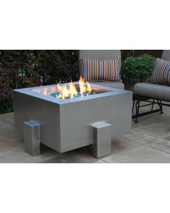 Legato Stainless Steel Fire Pit - Natural Gas or Remote Propane