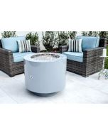37 Inch Round Powder Coated Hidden Tank Fire Pit