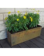 30 inch long x 10 inch deep x 10 inch tall Rectangular Cor-Ten Planter